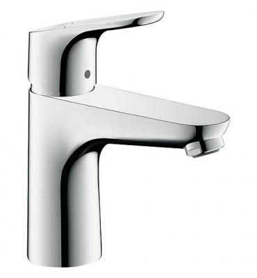 Mitigeur de lavabo EH 100 Focus, chromé DN15, ConfortZone 100 avec écoulement a tirette DN32