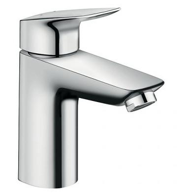 Mitigeur de lavabo Hansgrohe Logis 100, chromé, sans écoulement Hauteur 187 mm