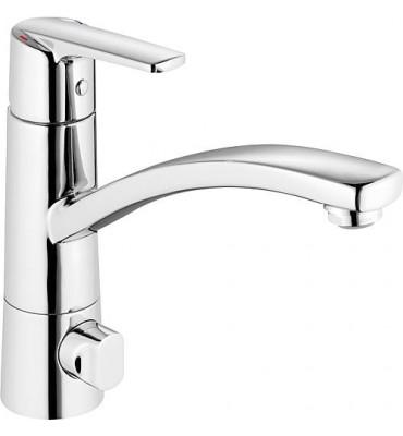 Mitigeur d´évier Alpha 300 avec vanne de raccordement lave-linge/vaisselle