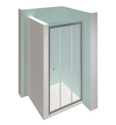 Porte HÜPPE Alpha 2, 3 pièces pour niche, 4mm, 880-930mm