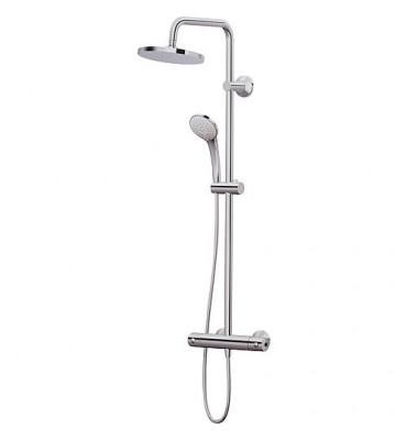 Colonne de douche Idealrain avec mitigeur thermostatique Ceratherm 60 en saillie