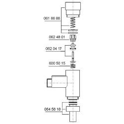 Ecoulement Benkiser complet pour modèle 687+688 avec tuyau de rincage 180mm