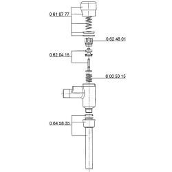 Ecoulement Benkiser complet pour modèle 666-677/699 avec tuyau 180mm et joint