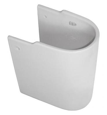 Demi-colonne 'CONNECT ARC' K C 001 WBUK céramique blanche lxPxH-195x280x340mm pour lavabo