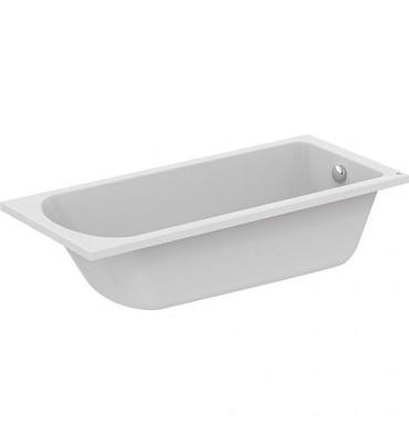 Baignoire ergonomique EMIL acrylique blanc - 250L lxPxH - 1700x750x465 mm