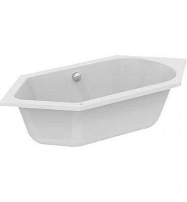 Baignoire hexagonale ESTON acrylique blanc - 260L lxPxH - 1900x900x465 mm