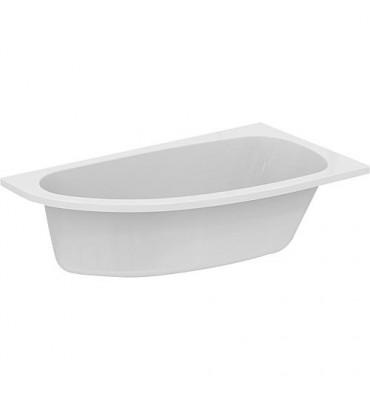 Baignoire gain de place ERUN à droite - acrylique blanc 1600/900x465x285 mm