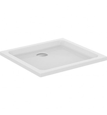 Receveur plat EXTON rectagulaire lxhxp: 900x80x750 mm acryl, blanc
