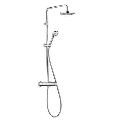 Colonne de douche Kludi avec mitigeur thermostatique Dual-Shower-System