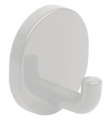 Patères blanc,en nylon, raccord caché, sans fixation d-5mm sans cheville