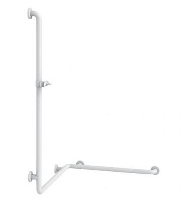 Douchette avec barre de douche couleur : blanc 19 763x400x1158mm/fixation incluse