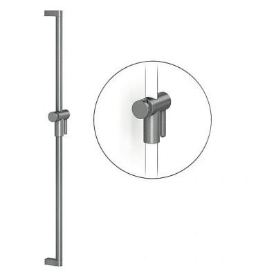 Barre de douche série Cavere 600mm, avec sup. douch+fixation alu ant-métal95