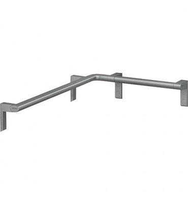 Main courante de douche Cavere 750x750mm, avec fixation alu anthra-métal 95