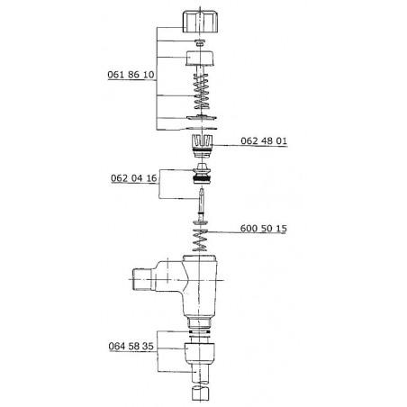 Robinet à bouton poussoir Benkiser complet pour modèle 669/670