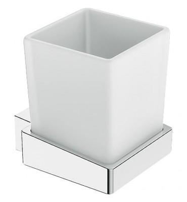 Porte-verre et porte-savon SAM Cuna métal chromé sans verre ni coupelle savon
