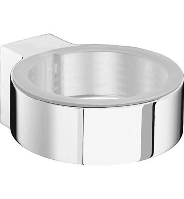 Support chromé SAM way pour porte-savon/gobelet livré sans verre ni coupelle