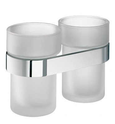 SAM way Porte-gobelet double sans verre chrome