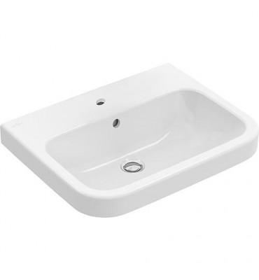 Vasque V&B Architectura avec trop-plein, 650x470 mm, blanc trou de robinet central