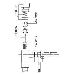 Robinet à bouton poussoir Benkiser complet pour modèle 155/159/655