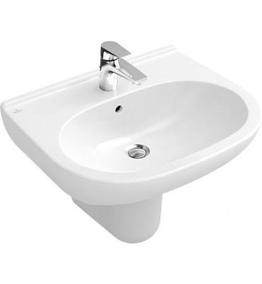 Vasque V+B O.Novo avec trop-plein, 650x510mm, blanc