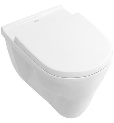 WC plat V+B O.Novo suspendu, 360x360x560mm, blanc