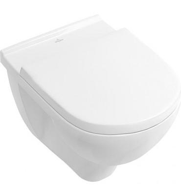 Pack WC Villeroy & Boch WC suspendu sans épaulement + abattant Sofclose, blanc