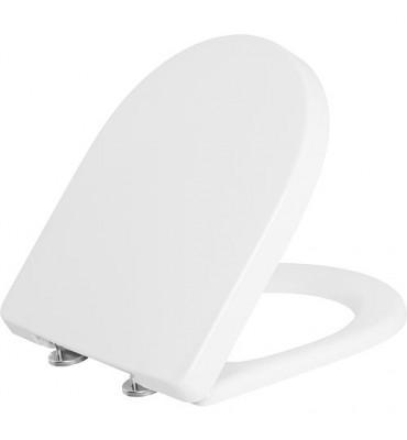 Abattant WC V&B O.Novo Compact, blanc charnire en inox