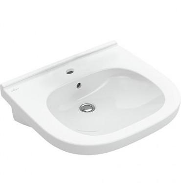 Vasque V&B O.Novo Vita avec trop-plein, 550x550mm, blanc Trou de robinet central