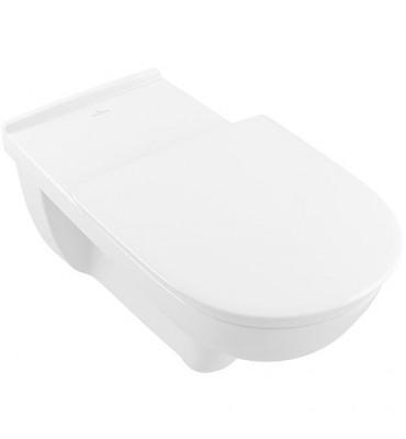 WC suspendu V&B O.Novo Direct Flush, Vita, sortie horizontale 700x360mm, blanc, sans rebord