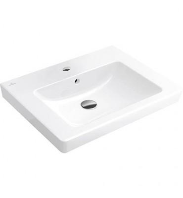 Vasque Subway 2.0 sur meuble blanche avec trop-plein et trou Lxl - 470x650mm