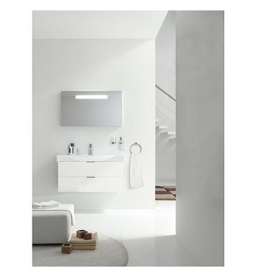 Ensemble de salle de bain EBSI série MBF blanc brillant