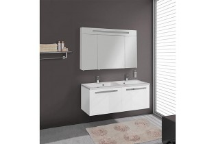 Kit meuble EBLI Série MAB blanc brillant