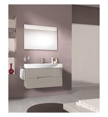 Kit meuble de salle de bain EMILA série MAE gris clair mat *BG*