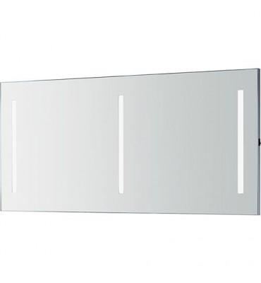 Miroir Orkla avec rampes néons 3 rampes de 9,6 W 1400x662 mm