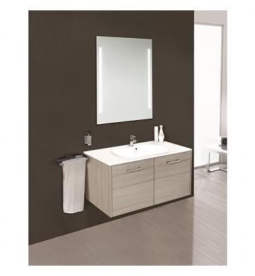 Kit meuble salle de bain ENI série MAA, meleze bicolor largeur 900 mm *BG*
