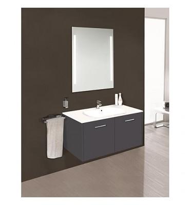 Kit meuble salle de bain ENI série MAA, anthracite mat largeur 900mm *BG*