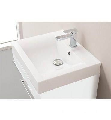 Kit meuble salle de bain ENNA Serie MAB blanc brillant largeur 600mm