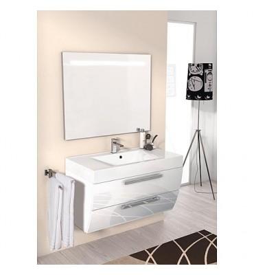 Kit meuble salle de bain ENNA Swerie MAB blanc brillant largeur 900