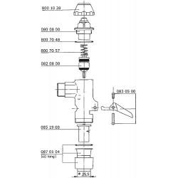 Ressort de piston Benkiser pour modèles 828/832/833/ 845/880/877/888