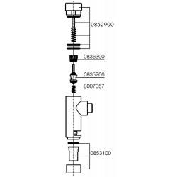 Piston de rechange pour chasse d'eau Twimat (93 018 27)