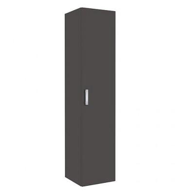 Meuble haut, série MAB, 1 porte ouverture droite, anthracite brillant lxHxP 350x1585x370 mm