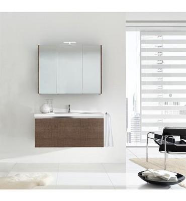 Meuble salle de bain ENOVI Serie MBH Tranche brun