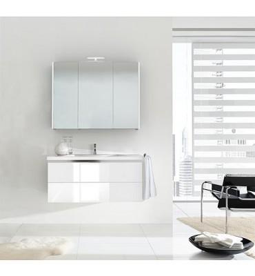 Kit de meubles de bain ENOVI serie MBH, blanc brillant 2 tiroirs
