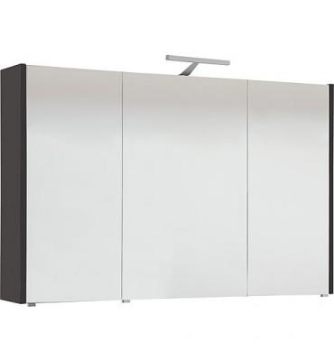 Armoire à glace avec luminaire anthracite mat 3 portes 1050x750x188mm