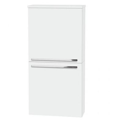 Meuble d'appoint ENURI 2 portes blanc brillant butée à droite 500x1018x208mm