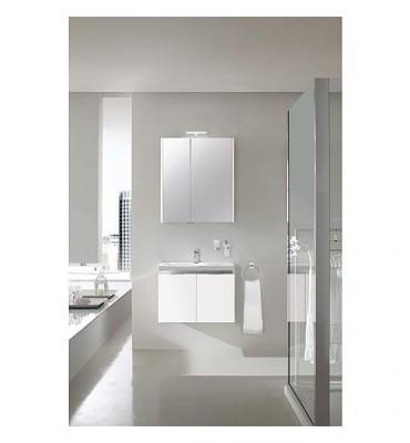 Ensemble salle de bain EOLA anthracite brillant largeur 700 mm