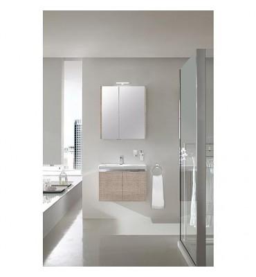 Ensemble salle de bain EOLA tranche écru largeur 700 mm