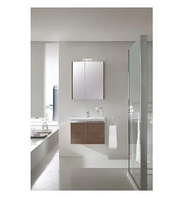 Ensemble salle de bain EOLA tranche marron largeur 700 mm