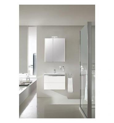Kit de meubles de bain EOLA blanc brillant largeur 700mm 2 tiroirs