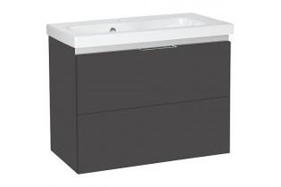 Meuble sous vasque + vasque EOLA anthracite mat. 2 tiroirs 610x580x380mm
